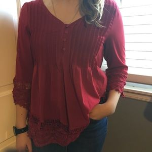 Tops - Tunic top with 3/4 length sleeve